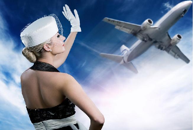блондинка самолет