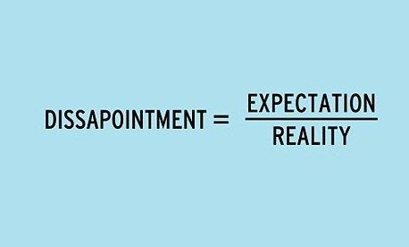 разочарованието е равно на