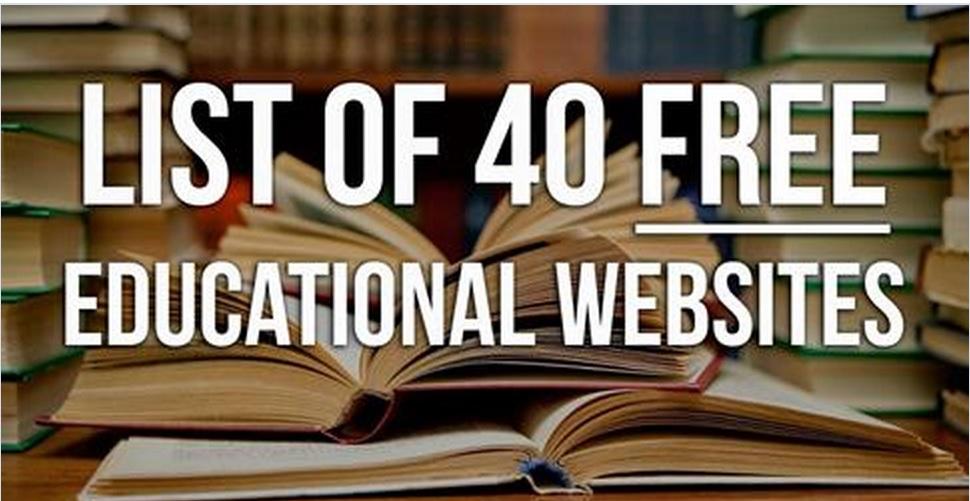 Списък 40 образователни сайта